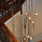 Zona escaleras para bajar a recepción