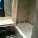 Vanity and bathtub/shower
