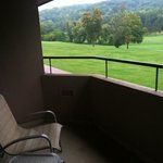 Balcony with a golf course view