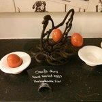 Orange eggs
