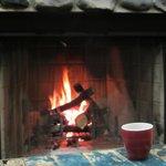 Chalet fireplace