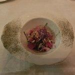 Salad of flower paddles