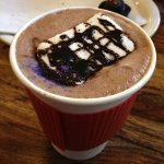 Lavender Hot chocolate w/ a Homemade marshmallow. Amazing!!