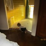 HUGE Shower in larger suite