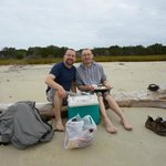 Our picnic on the beach