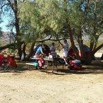Typical campsite setup