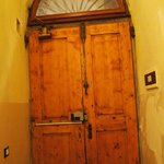 The door of the B&B from the inside