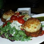 Crabcakes and salad