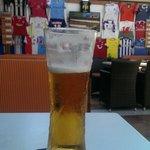 Efter 12 km vandring er der intet bedre end en øl på Glory Bar