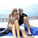 Nicole and Shawn Dahl on a dive trip