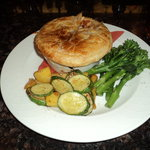 Pie of the day - wild boar pie.  The boar was shot locally about 4 days prior.