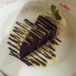 The chocolate mousse cake