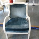 One of the many comfortable chairs in the Reception area