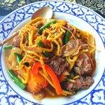 Drunken beef noodle