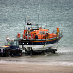 The Barmouth Life Boat launching taken from Room 10