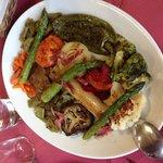 Parrilada de verduras con Jamon