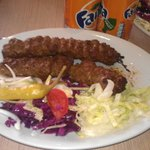 Double Kobedhi kebab and salad... Very Nice