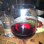 Glass of wine upon arrival