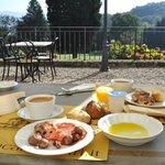 Breakfast on the front terrace.