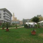 Het moskee-achtige gebouw is een pomp station