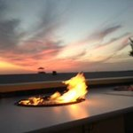 Fire pit at Cabana Beach Bar