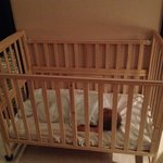 Please look at the horizontally built rail of this crib