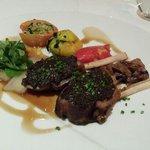 Black olive coated rack of lamb