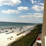 View from balcony to the beach/pool area