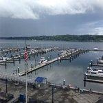 Harbor outside the Hampton Inn & Suites in Bremerton