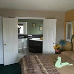 master king suite with Lg. 2 person Jacuzzi tub.