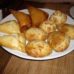 A selection of pirozhki (savoury pies)