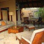 Outside lounge area of villa 517