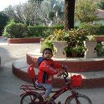 Rey enjoying his cycle ride