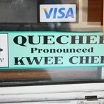 Quechee as in 'Kwee Chee'. (A sign at Quechee Gorge).