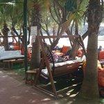 Lounge plek bij het strand