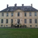 The front of the chateau. The upstairs center window was our bathroom.