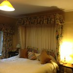 Comfortable super king sized bed in Nonington suite.