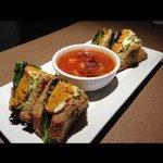 New roasted squash veggie sandwich
