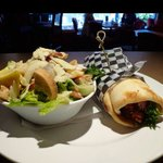 Chicken Shwarma, with house made Caesar salad