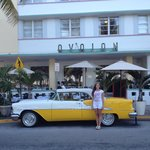 The 1955 Oldsmobile in front of Avalon Hotel