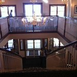Breakfast room and stairway down to lobby