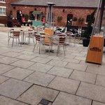 Court yard at Burscough