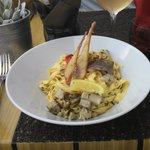 Espaguete de frutos do mar