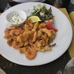 Fritada de frutos do mar