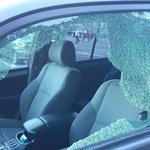 Vandalized car in Jamestown parking lot
