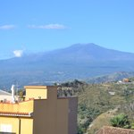 View of Mt. Etna from the rooftop terrace