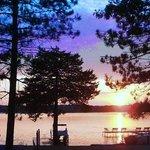 Sunsets at Lake Ripley Lodge