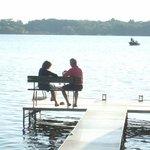 Romantic lakefront at Lake Ripley