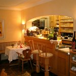 Unsere kleine Bar in der Restaurant-Stube