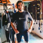 Husband at Mexi-Divers getting suited up!